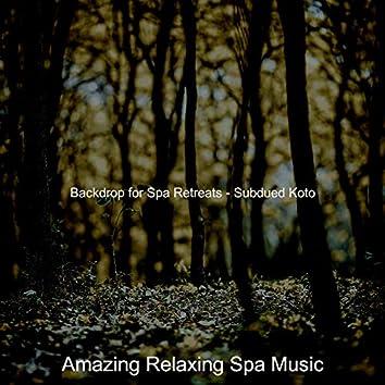 Backdrop for Spa Retreats - Subdued Koto