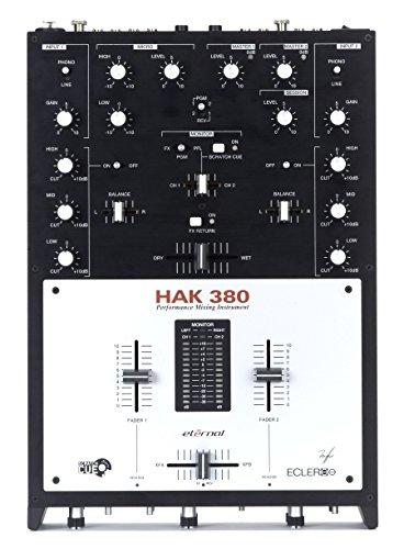 Ecler HAK 3802Ausgangskanäle schwarz, weiß Mischpult Audio–Tische Mischpult Audio (2Kanäle, 6,3mm)