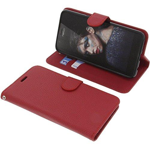 foto-kontor Tasche für TP-Link Neffos N1 Book Style rot Schutz Hülle Buch