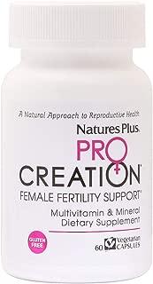 NaturesPlus Procreation Women - 60 Vegetarian Capsules - Natural Female Fertility Support, Multivitamin & Mineral Supplement with Antioxidants, Herbal Blend - Gluten-Free - 30 Servings