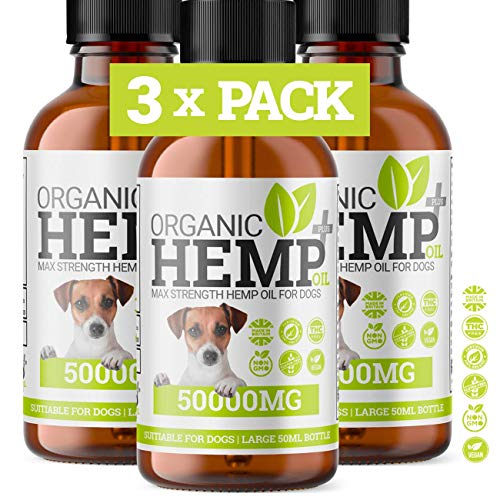 Hello Supplements DOG ANXIETY RELIEF HEMP OIL DROPS | Natural Supplement For Dogs & Cats | Omega 3,6,9 | Made In UK (3-PACK)