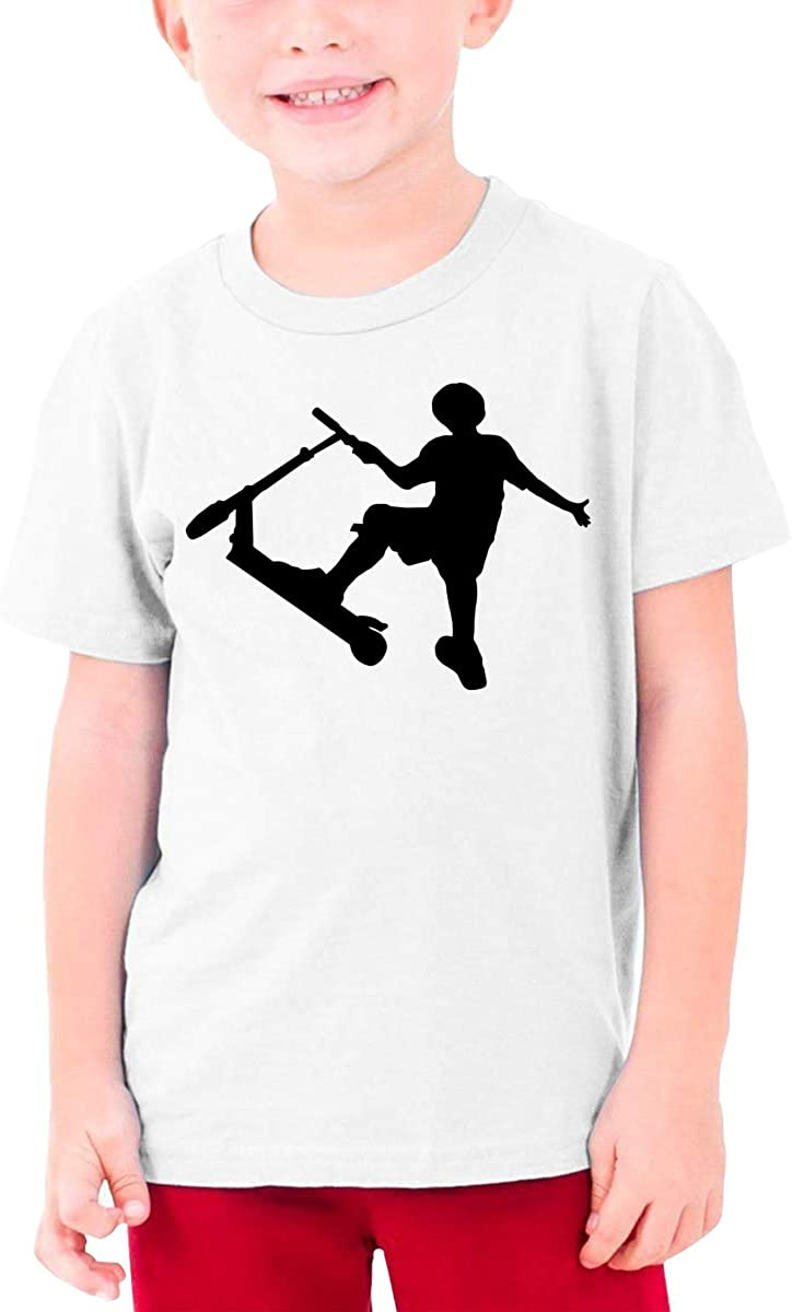 Stunt Scooter Youth T-Shirt Short Sleeve Top Boys&Girls Tee