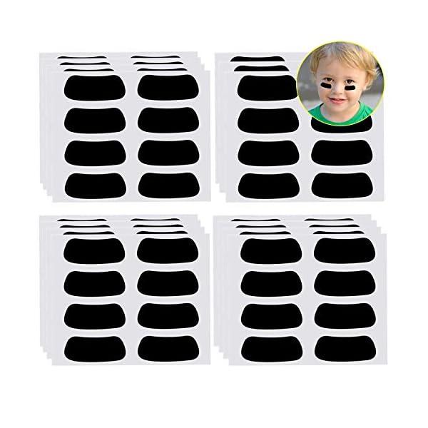 Anteer 60 Pairs Eye Black Stickers for Kids Customizable Sports Face Eyeblack Sticker...