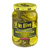 Mt. Olive Bread & Butter Chips Old Fashioned Sweet Fresh Pack Pickles Jar, 16 oz...
