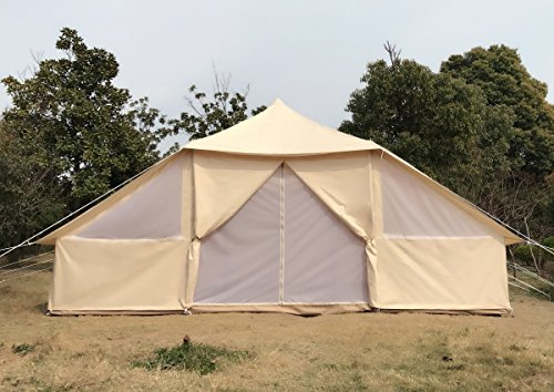 Dream House Large Spacious Outdoor Waterproof Cotton Canvas 4 Season Camping Tent for 10 Persons