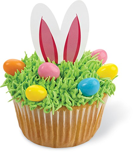 Wilton 24 Count Easter Bunny Fun Pix Cupcake Toppers, Multicolor