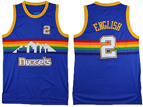 TGSCX NBA Jersey Denver Nuggets # 2 Alex Engels klassiek basketbal T-shirt heren modieus ademend vest