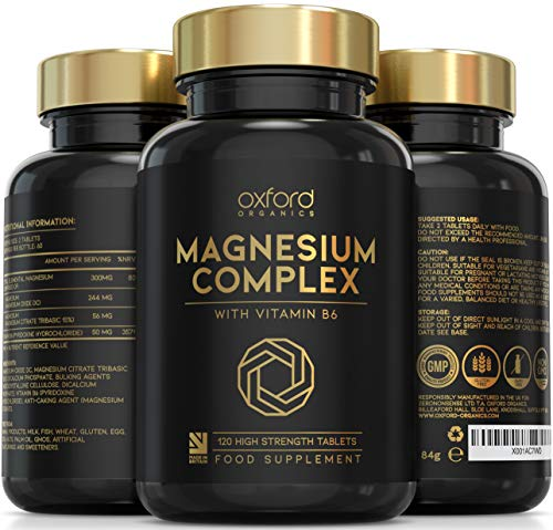 Advanced Vegan Magnesium Tablets | Magnesium Supplements for Restless Leg Syndrome Relief, Leg Cramps & Calm Sleep | Magnesium Citrate, Oxide & Vitamin B6 120 Servings | UK Made Magnesium Supplement