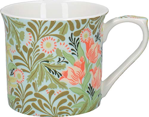 V&A William Morris Bower Wallpaper Bedruckte Kaffeetasse ausfeinemKnochenporzellan, 230 ml (8 fl.oz.)