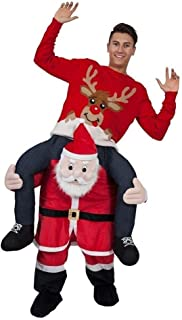 santa piggy back costume