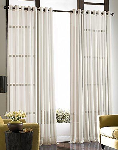 Soho Voile Lightweight Sheer Grommet Long Length Curtain Panel