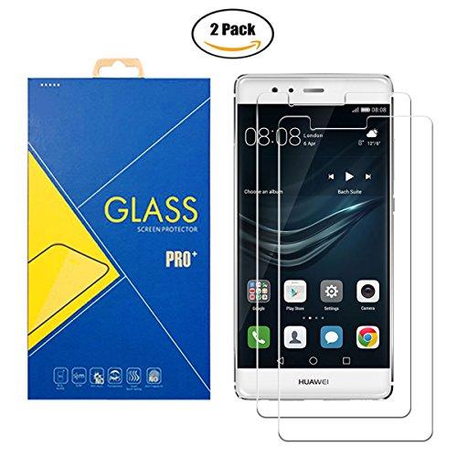 [2 Pack] Protector Cristal Vidrio Templado Huawei P9 ( EVA-L19 ) – Pantalla Antigolpes y Resistente al Rayado