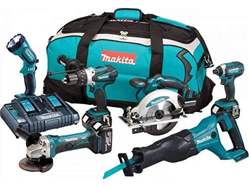 MAKITA 6er Pack DLX6072PT Maschinen | 3x 18V 5Ah Li-Ion | Doppel-Ladegerät | Transporttasche
