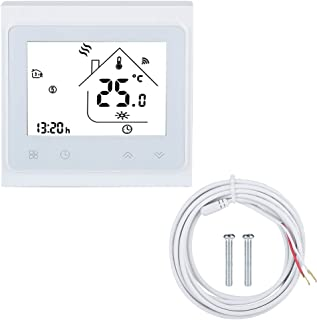 Smart Thermostat WiFi Thermostat with LCD Touch Screen WiFi Smart Thermostat Temperature Controller for Electric Floor Hea...