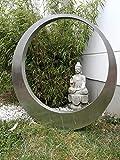 Zen Man 031510-1S - Figura de jardín (Acero Inoxidable, 80 x 80 x 5 cm)