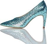 find. Zapatos de Brillantina Mujer, Verde (Aqua), 36 EU