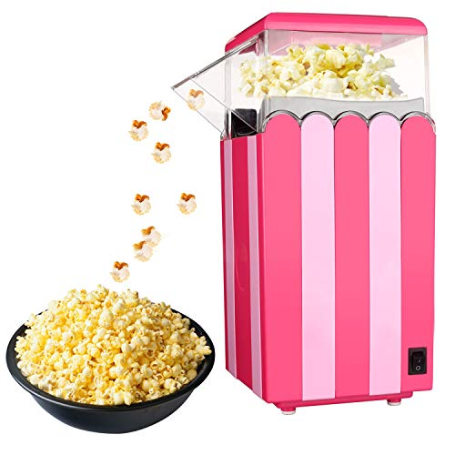 Cheap Popcorn Machine,Popcorn Maker,Hot Air Popcorn Popper Healthy Popping Corn Kernels Machine,No O...