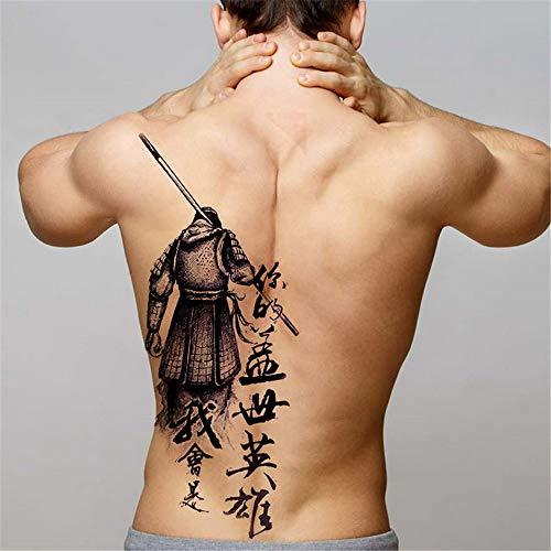 tzxdbh 2pcs-Men Tatuaggi temporanei Trasferire Grandi d'Acqua Pieno di Tatuaggi Indietro Dragon Tattoo Ali del Tatuaggio e della Body Art Sticker Decalcomanie Grandi 2pcs 26