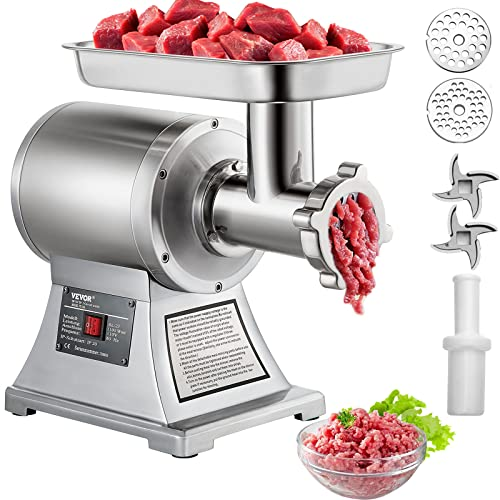 Happybuy Electric Meat Grinder 750W 375Lbs/hour Commercial Sausage Stuffer Maker Stainless Steel for...