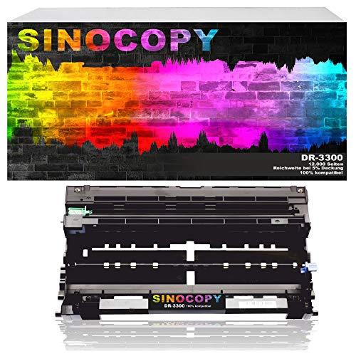 SinoCopy Trommeleinheit für Brother DR-3300 HL-5400 5440 5400DNT 5470 5440D 5450 5450D 5450DN 5450DNT 5470DW 5480DW - MFC-8510DN 8510 8520DN 8950DW - DCP-8110DN 8250DN