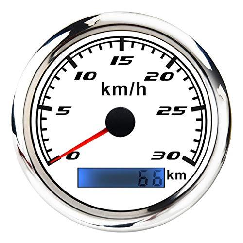 Almencla Wasserdichter GPS-Tacho-Kilometerzähler, Anzeige bis 30 km/h für Autos, Motorräder, LKW, mit LED Hintergrundbeleuchtung