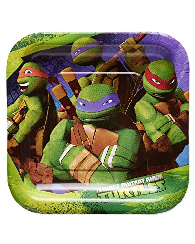 American Greetings Teenage Mutant Ninja Turtles (TMNT) Paper Dessert Plates for Kids (40-Count)