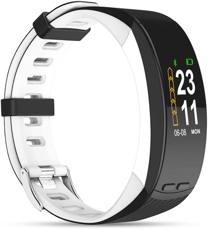 スマートブレスレット ウィッキングリストバンド フィットネストラッカー GPS測位 心拍数 カロリー 気圧 リアルタイムモニタリング スポーツブレスレット,B