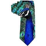 Corbatas azules de plumas de pavo real para hombre Corbata Traje formal de fiesta Corbatas de regalo únicas