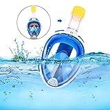 Vollgesichts-Schnorchelmaske, Schnorchelmaske mit abnehmbarer Kamerahalterung, 180 °...