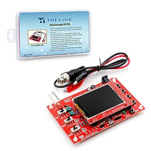 Treedix DSO138 Oscilloscope DIY Kit Handheld Digital Oscilloscope 1msps Real-Time Sampling Rate 2.4 inch TFT Display