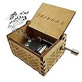 Caja de Música de Manivela de Madera, Caja de Música, Caja de Música de Madera, Grabada a Mano Vintage Regalo de Cumpleaños