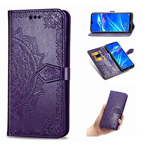 Cover Nokia X5 / 5.1 Plus, Custodia Porpora Mandala in Pelle Basamento Protettiva Case Cover per Nokia X5 / 5.1 Plus