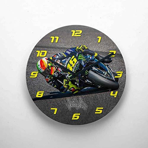 GP-Clock - Valentino Rossi - Mugello 2019-04 | Wanduhr 29 cm