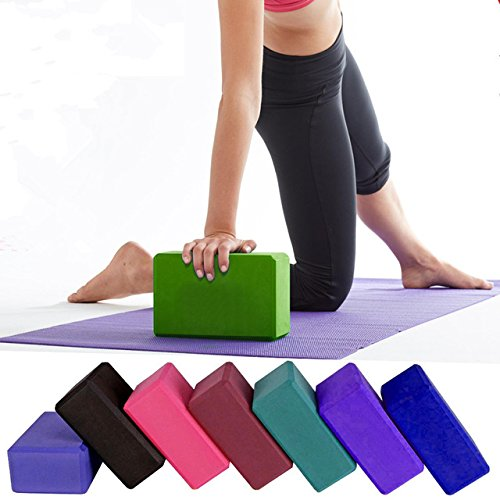 SKYBLUE Yoga Brick for Sports Exercise Fitness, 2 Pack EVA ECO Friendly Foam Extra Wide Yoga Blocks 3 in. x 6 in. x 9 in, Perfect for Stretch Exercise Gym Exercise Body Building