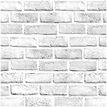 DWIND D9253 Peel and Stick Wallpaper Brick 1.48ft x 9.8ft Contact Paper Self Adhesive For Furniture Kitchen Countertop Tab...