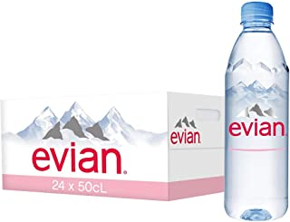 Evian Natural Mineral Water - 500 ml (Pack of 24)