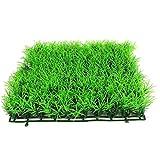 tJexePYK Turf simulada Agua de la Hierba Acuario plástico Césped Artificial Grass Ornamento Pecera Decoración