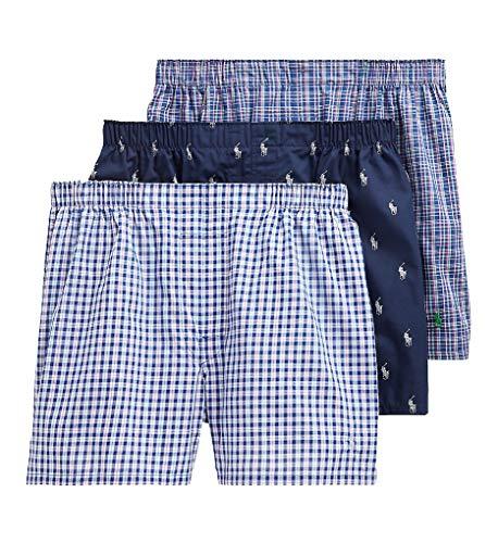 Polo Ralph Lauren Herren Boxershorts, klassisch, gewebt, 3 Stück - - Large