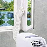 EXTSUD Sello de Ventana Aislamiento de Ventanas para Aire Acondicionado Portátiles y Secadoras Anti UV, Anti-Mosquitos, con Cremallera, 300cm