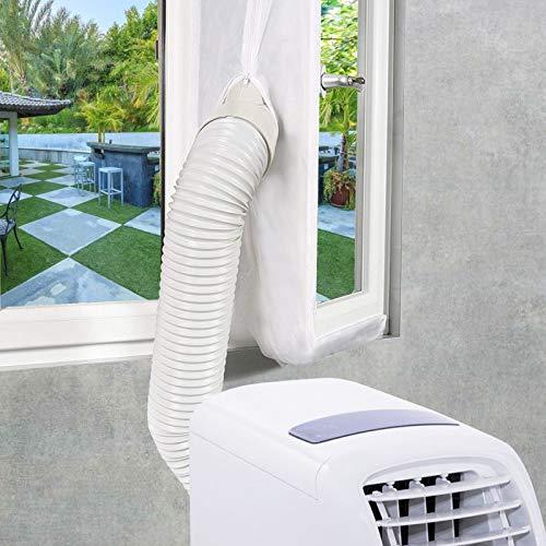 EXTSUD weiße Fensterabdichtung für Mobile Klimaanlage, Klimageräte, Abluft- und Wäschetrockner AirLock zum Anbringen an Fenster, Dachfenster, Flügelfenster, 3 Meter