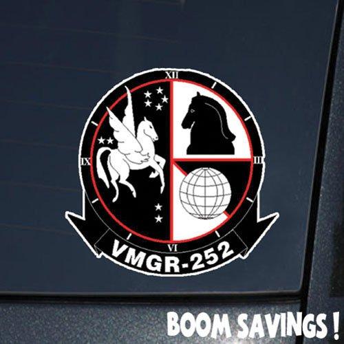 "Boomsavings Marines USMC Aviation SSI VMGR 252 () 6"" Decal Sticker"