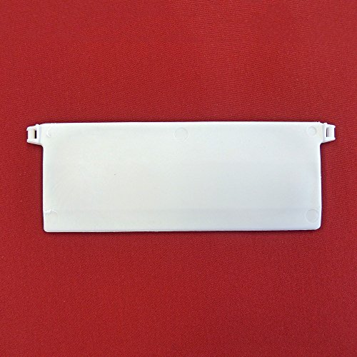 Easy-Shadow - 20 Stück Beschwerungsplatten Gewicht für Lamellenvorhang Stofflamellen Breite 127 mm – Vertikal Lamellen Vorhang / Vertikal Jalousie / Vertikaljalousie / Vertikal-Anlage / Vertikalanlage / Vorhang-Lamellen 127mm - weiß