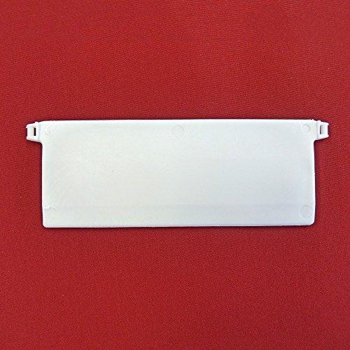 Easy-Shadow –/10unten Gewichte für vertikale Jalousien Stoff Breite 127mm vertikalen Jalousien/Vertikal/System/127mm vertikal Blind slats-White