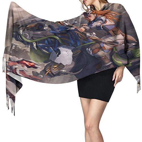 Anime Game Horizon Zero Dawn - Bufanda para mujer, otoño e invierno, resistente al viento, mantiene abrigada, súper suave, acogedora manta grande