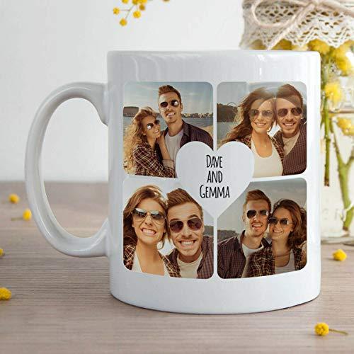 Coffee Mug Personalized with Your Custom Text and Photo White Ceramic Custom Mug 11 Oz Best Gift