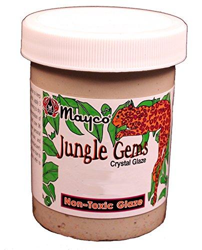 Mayco Jungle Gems Crystal Glaze - CG 713 - Peacock Green - 4 Ounce Jar