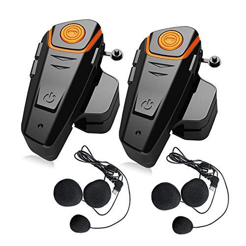 2X BT-S2 Motorcycle Intercom Communication System, QSPORTPEAK Motorbike Bluetooth Headset with...