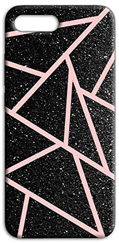 Mixroom - Cover Custodia Back Case in TPU Silicone Morbida per ASUS Zenfone 4 Ze554Kl Fantasia Triangoli Glitter N1095