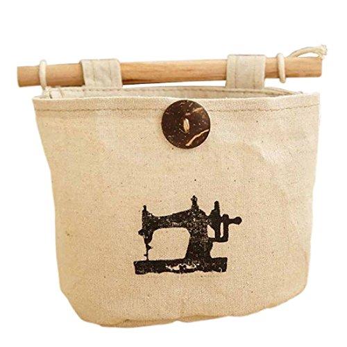 Moda Casa y jardín colgante de recibir el bolso creativo de la vendimia del reloj de la corona de la máquina de coser del patrón-