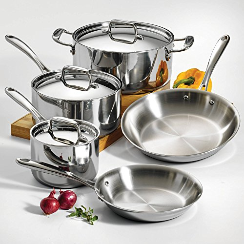Tramontina 80116/544DS Stainless Steel Tri-Ply Clad Cookware Set